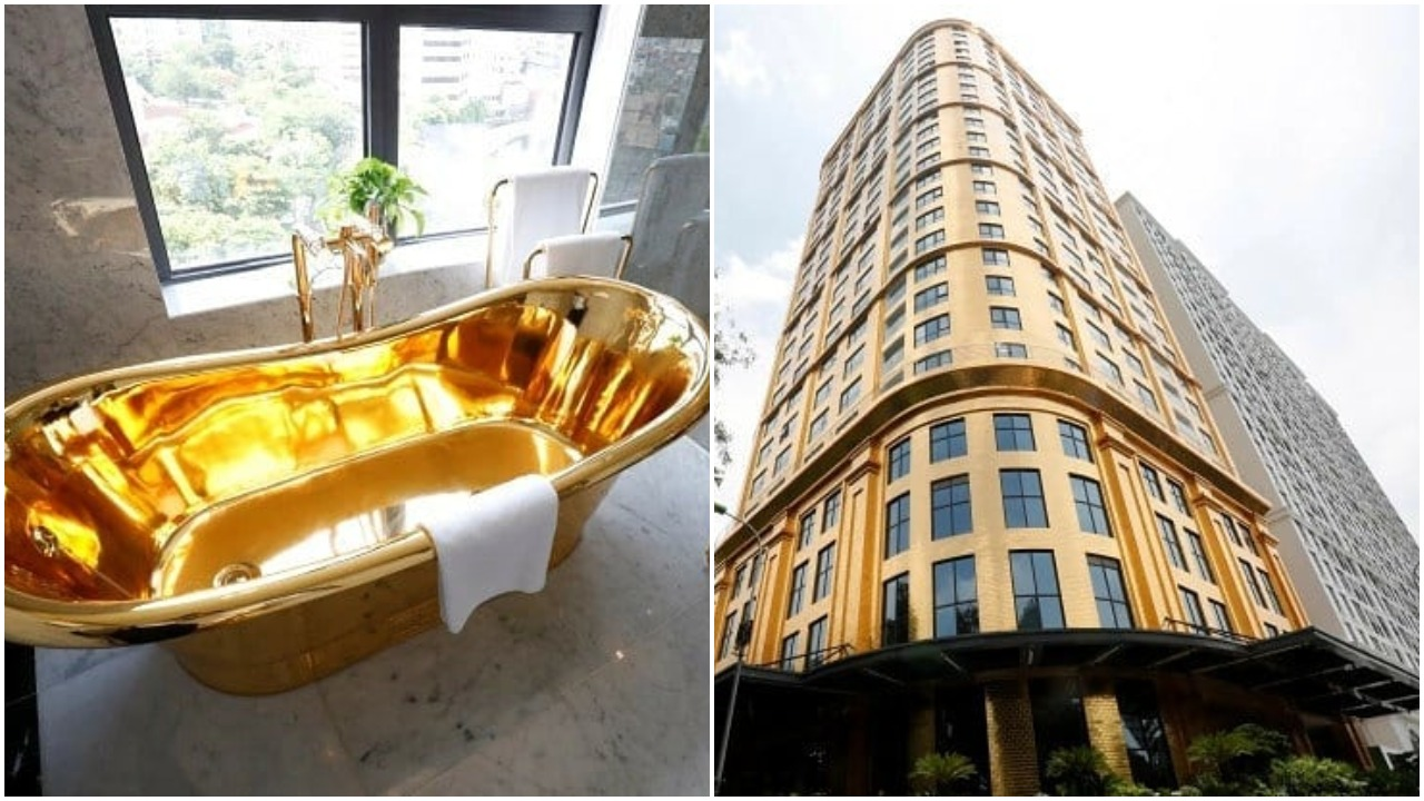 Checkout The World's 'first' gold plated hotel opens for business in Vietnam (photos)