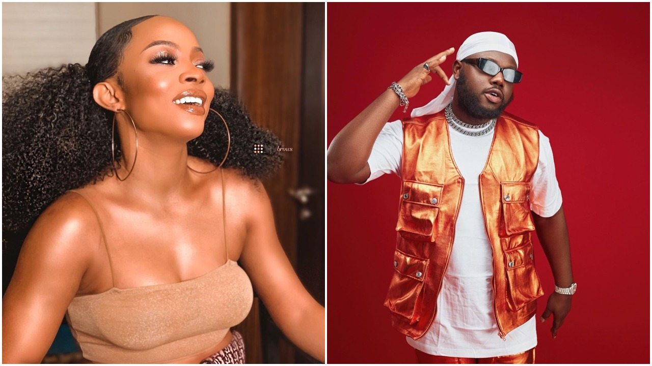 """Love in the air, """"All I want is to hear your voice """" - FrankieJay begs Toke Makinwa for love on his birthday (photo)"""