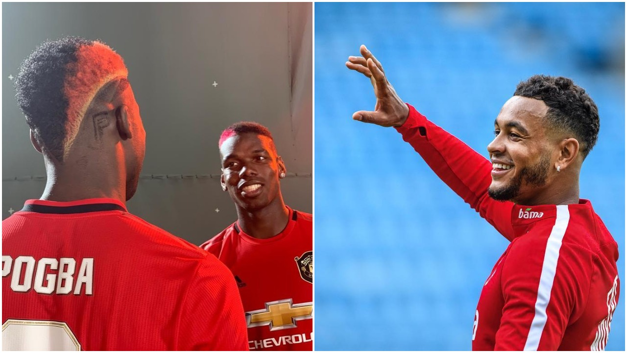 """Leave my shirt bro, I said I will give you after the match"" – Manchester United midfielder Paul Pogba troll Joshua King (photo)"