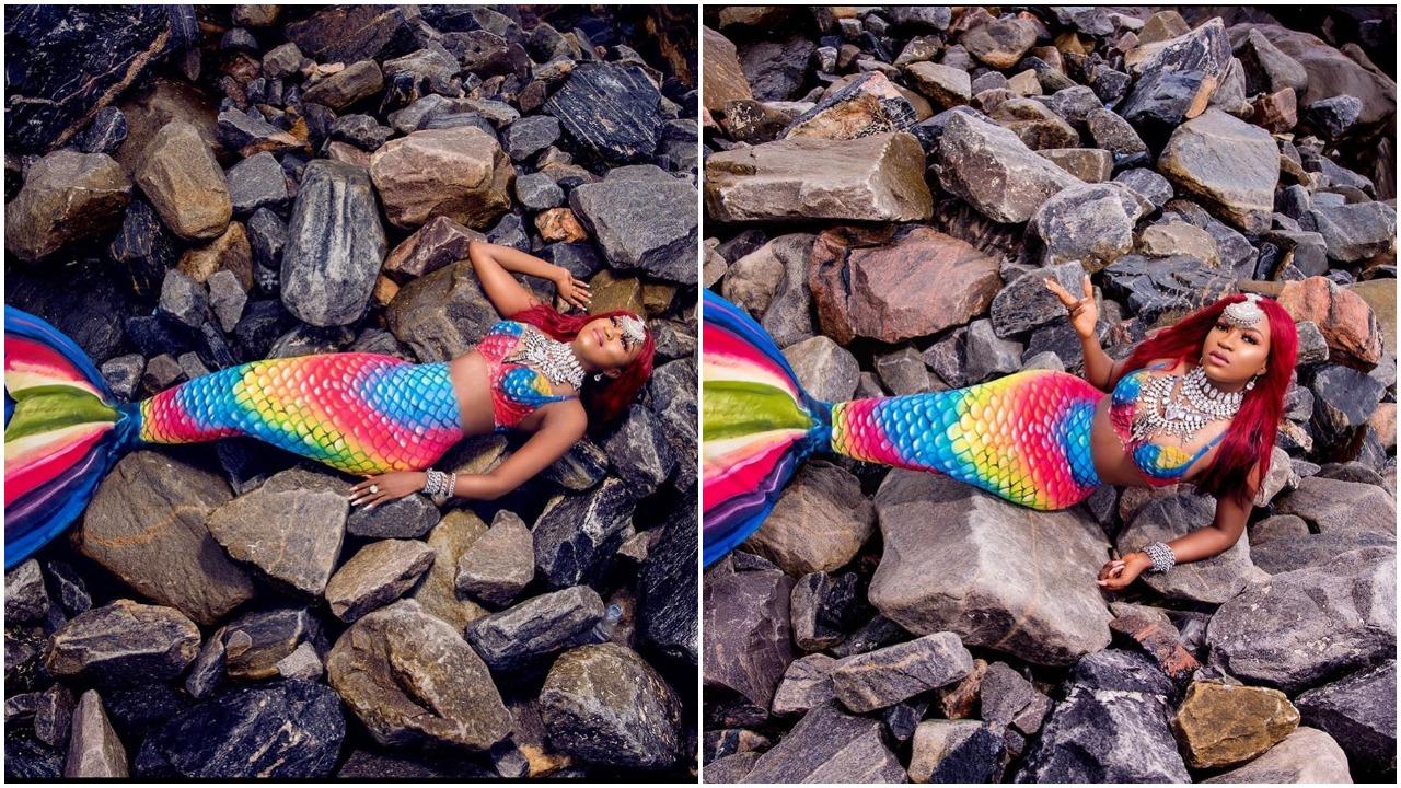 #BBNaija: Former housemate, Thelma celebrates Birthday in mermaid dress (Photos)