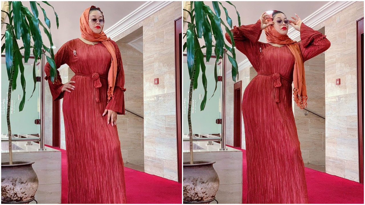 My juma'a wish for you and is that Allah will show you His mercies and protect you - Actress Adunni Ade glows in a red gown dress (photos)