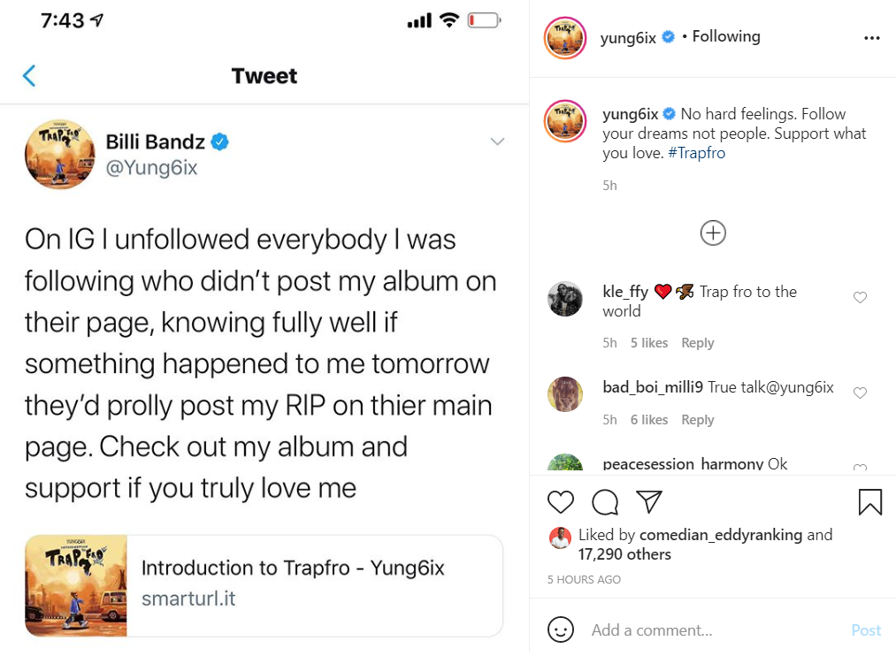 Yung6ix Unfollows Celebrities Who Didn't Share Is Album On Instagram
