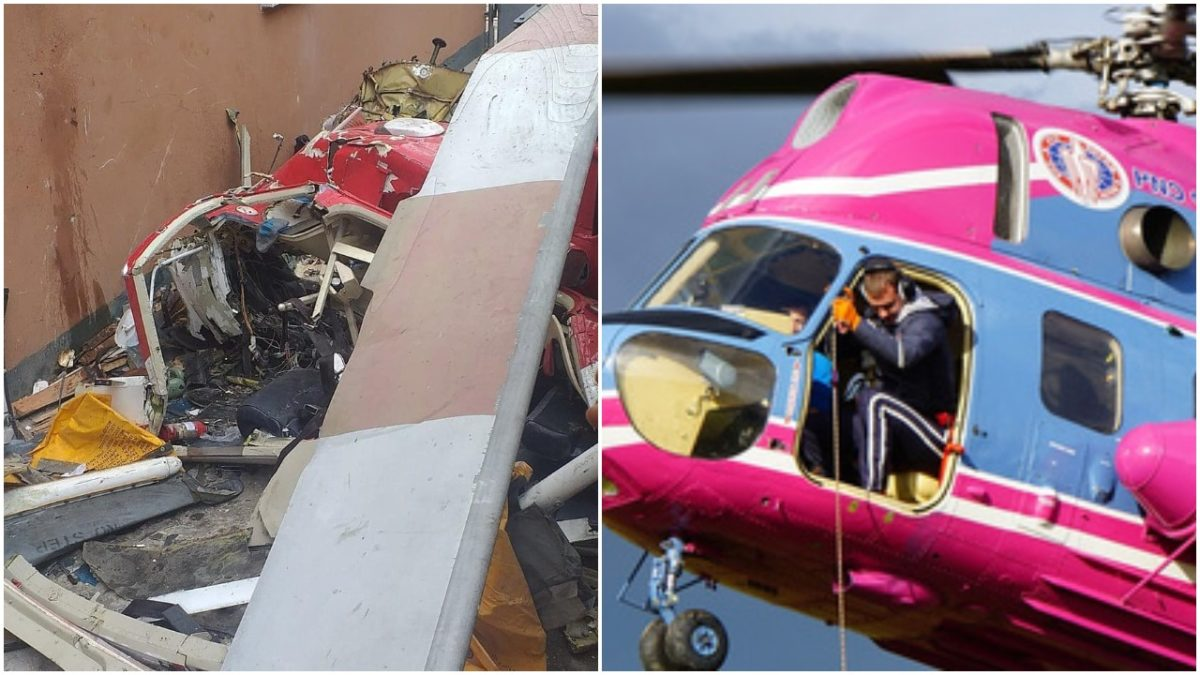 Helicopter crashes into a Building at Opebi Lagos