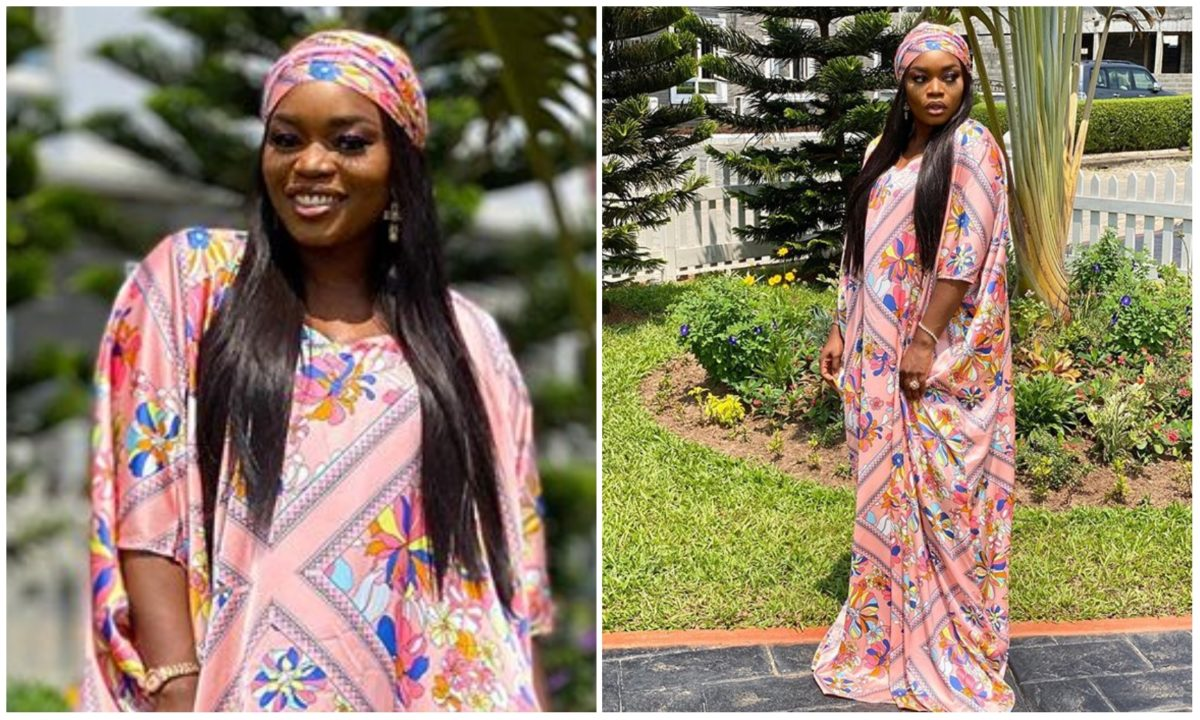 #BBNaija: Bisola set IG ablaze with her adorable two piece Sallah Outfit (Photos)