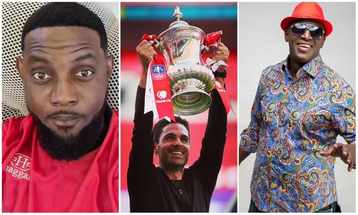 AY, Ali Baba, Harrysong, Sammie Okposo, others celebrates Arsenal's FA Cup triumph (Photo/Video)