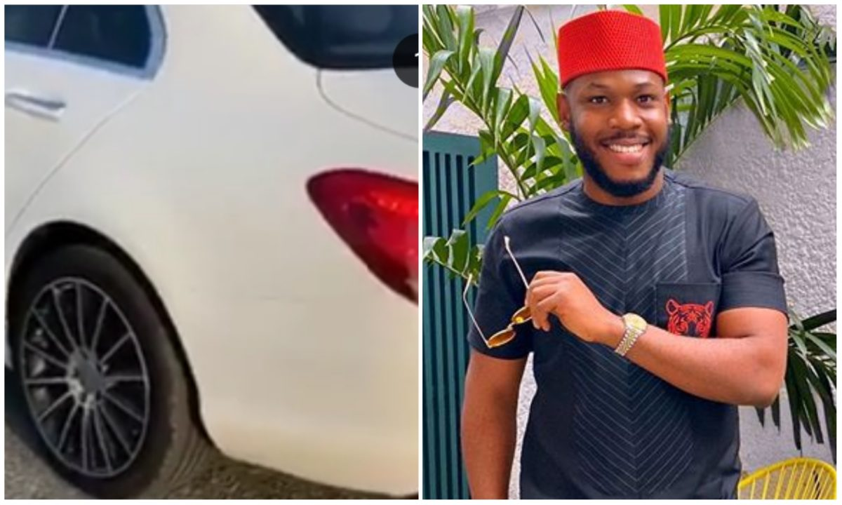 #BBNaija: Frodd receives Benz as gift hours after he was trolled by a fans (Video)