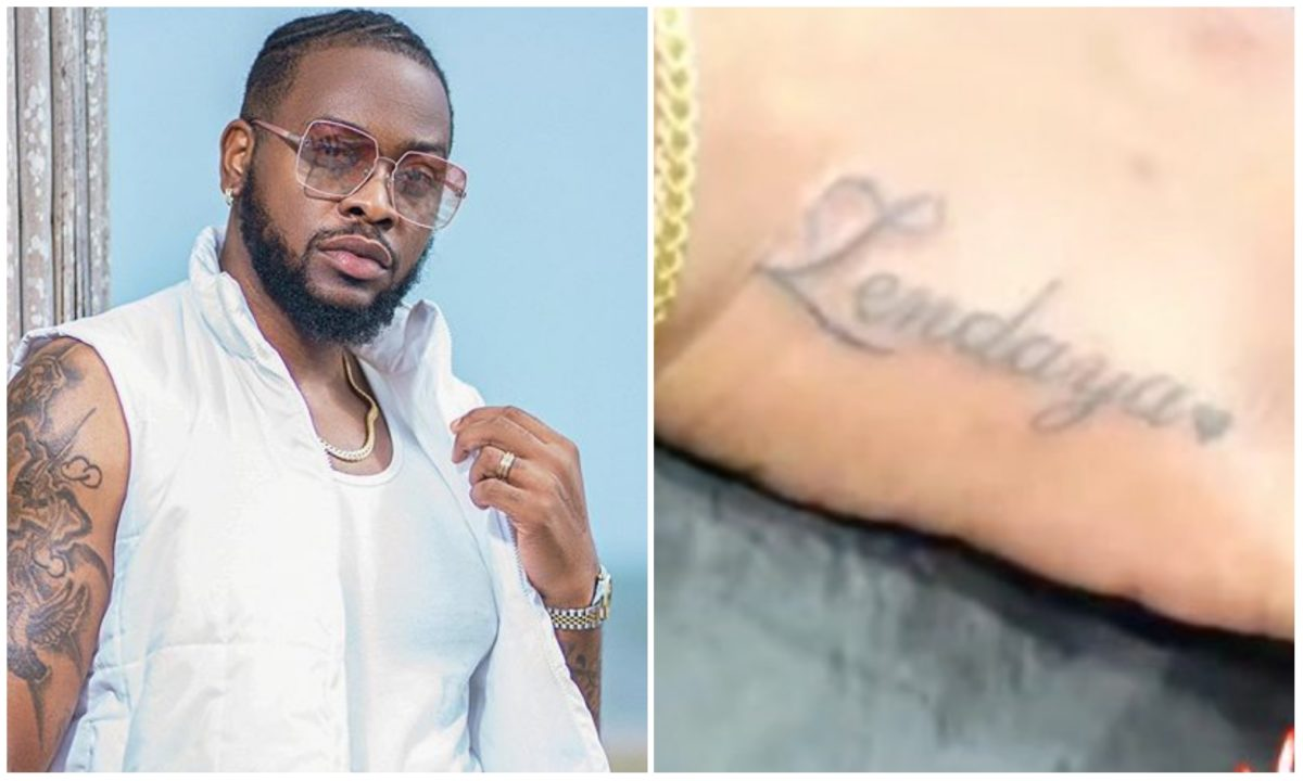 #BBNaija: Teddy A gets a tattoo of his daughter's name on his hand (Video)