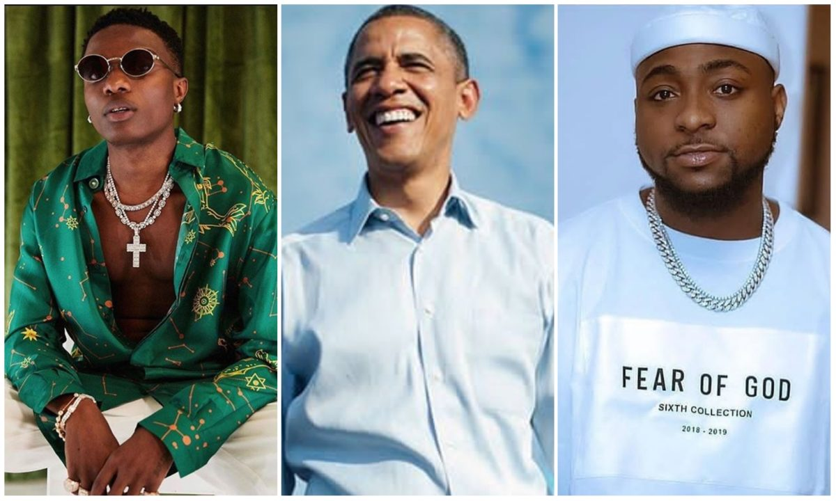 Wizkid, Davido and Burna Boy make Barack Obama's summer playlist (Photos)