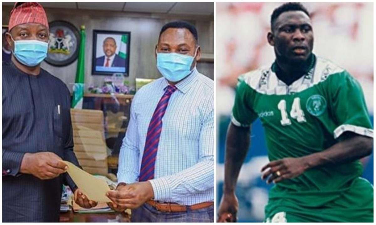 Buhari appoints ex-Super Eagles striker, Amokachi, Special Assistant on Sports