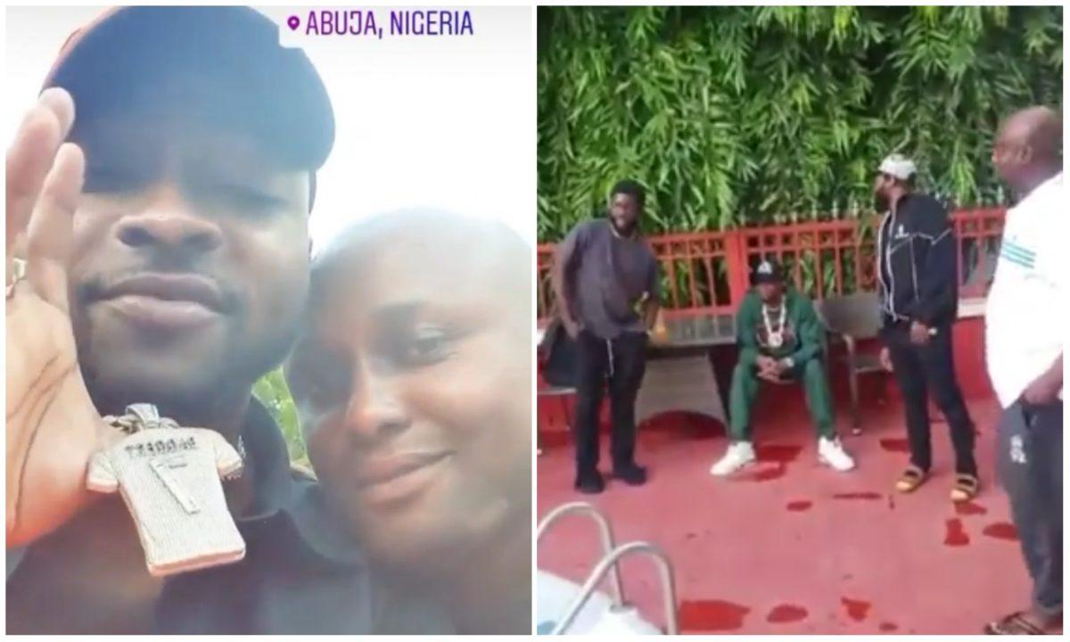 Davido visits Regina Daniels husband, Ned Nwoko at his Abuja mansion (Video)