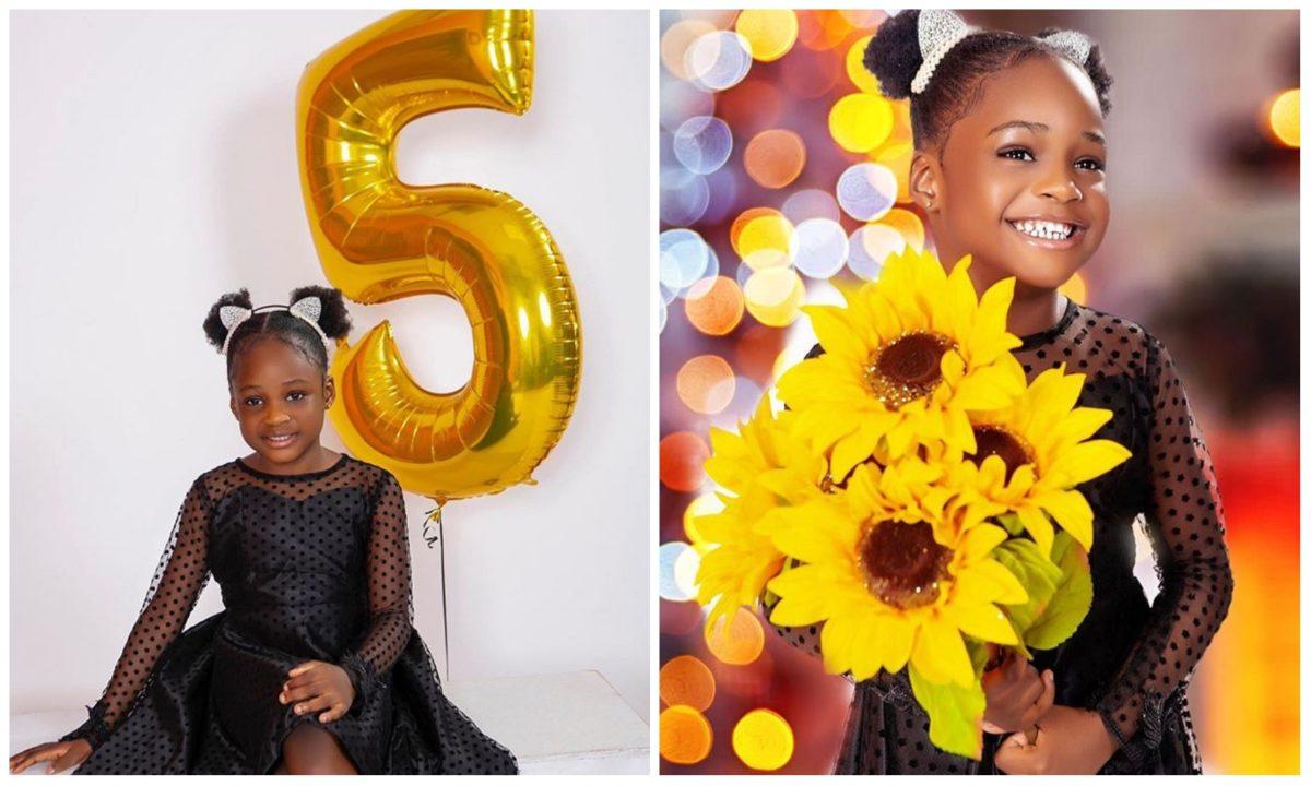 Ubi Franklin celebrates his daughter, Zaneta as she clocks 5 (Photos)