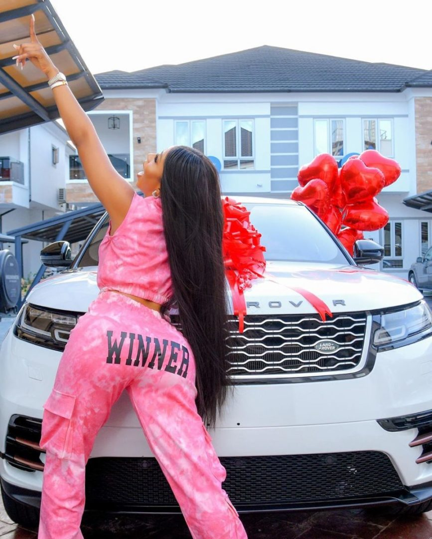 Mercy Eke Buys herself N50 millionaire 2021 Ranger Rover Velar to Celebrate 27th Birthday