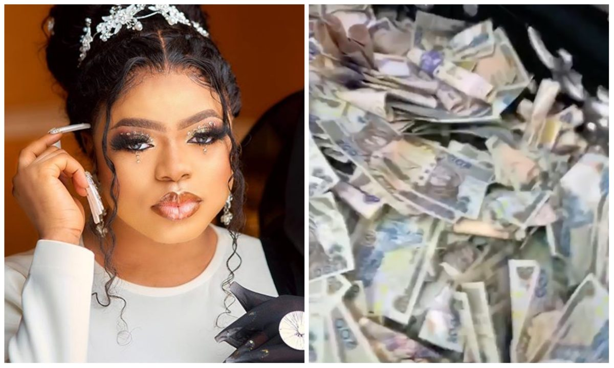 Bobrisky flaunts cash made from his birthday party, troll haters (Video)