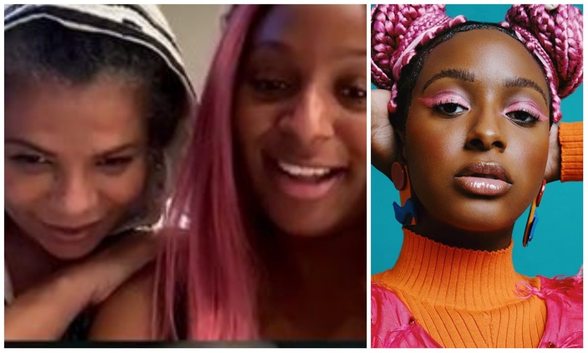 See adorable moment DJ Cuppy went live on IG with her mother (Video)