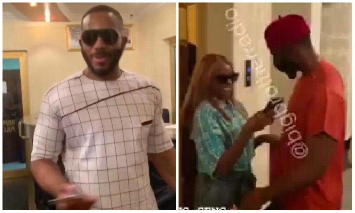 #BBNaija: Kiddwaya, Prince, Wathoni and Tolanibaj reunites after their eviction (Video)