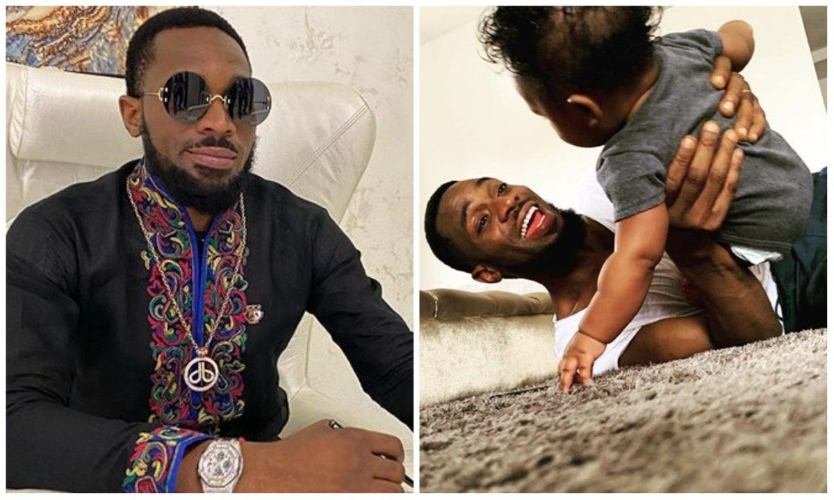 D'Banj shower prayers on his son as he celebrates his first birthday (Photo)