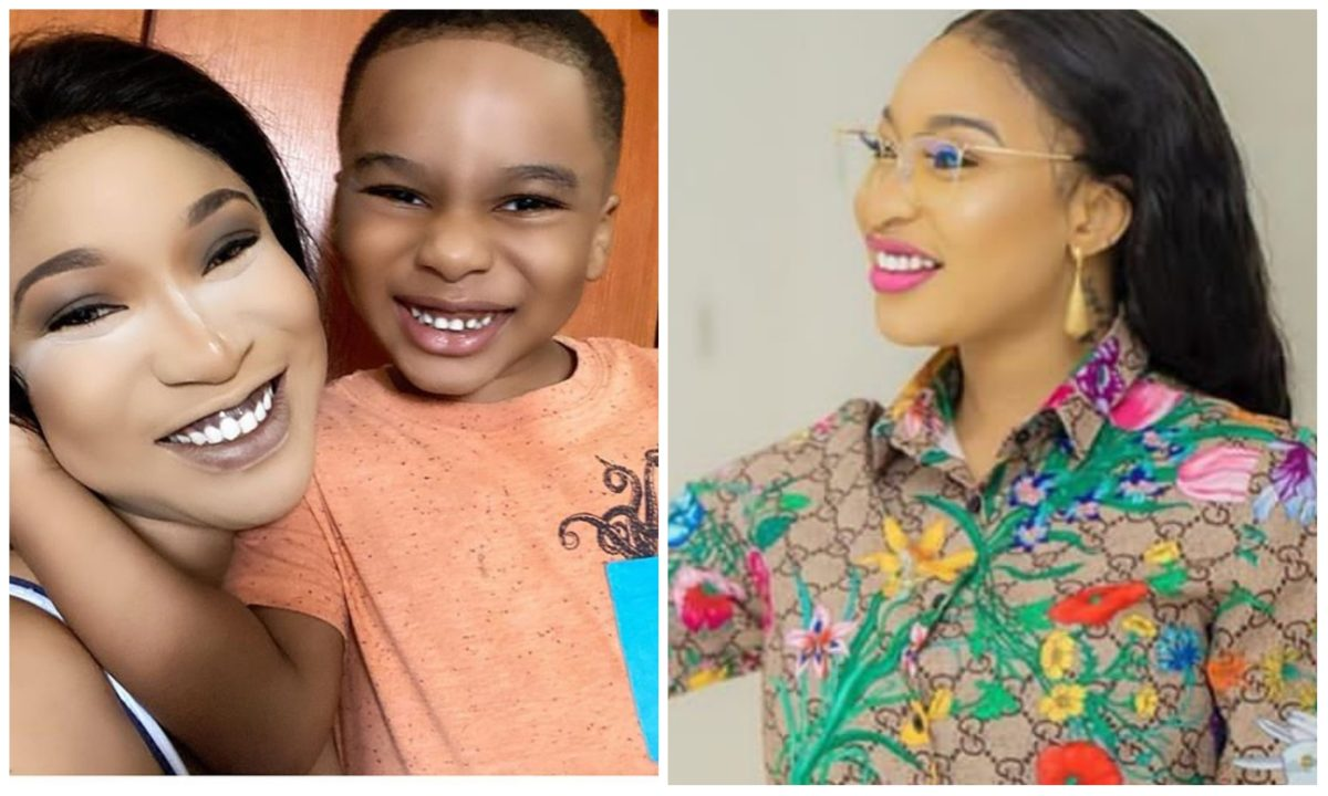 Tonto Dikeh laments as her son, King Andre chooses his Nanny over her