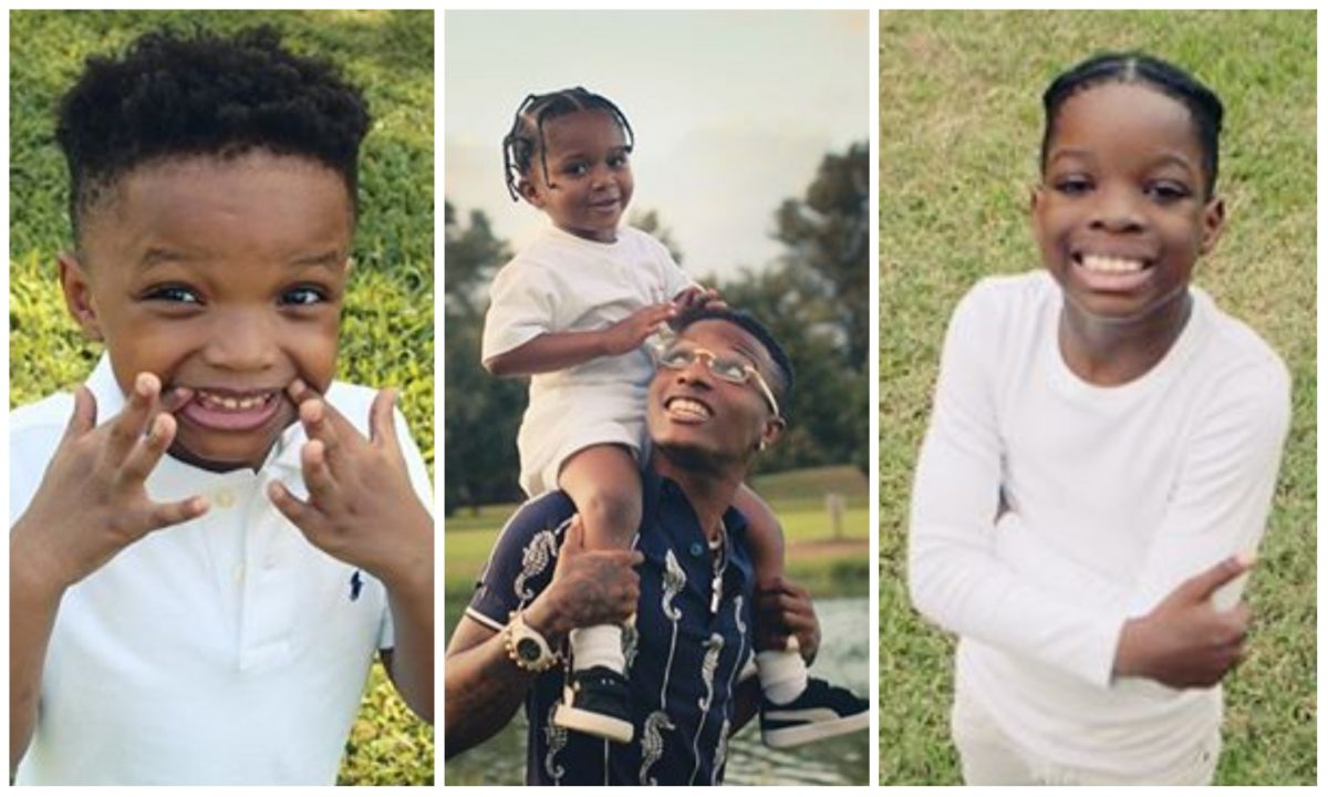 Wizkid features his 3 sons in new music video for hit single 'Smile' (Video)