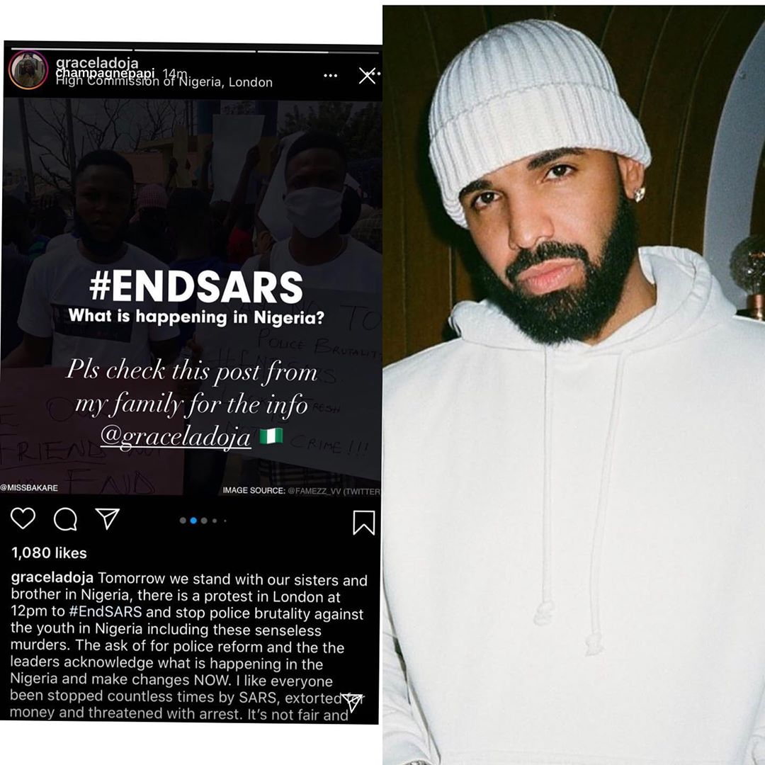 Canadian Rapper Drake Joins the End Police and Sars brutality
