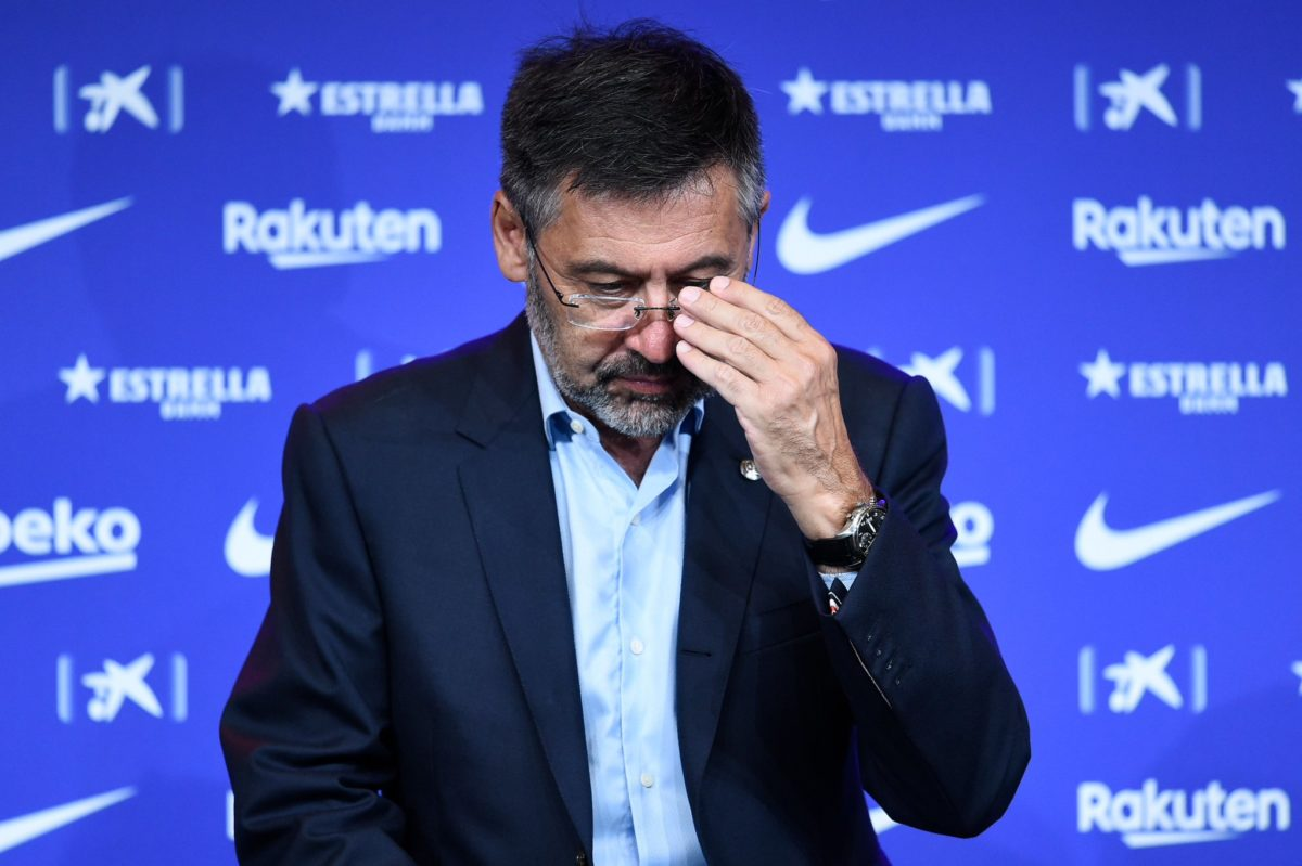 Barcelona president Josep Bartomeu has resigned, along with the entire board