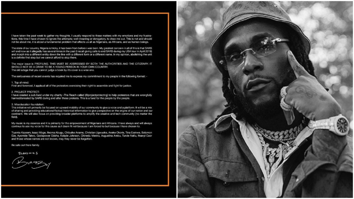 I have ALWAYS been here Fighting for my people - Burna Boy breaks Silence