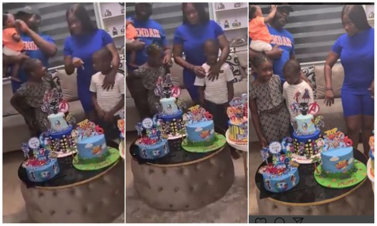 Mercy Johnson and hubby, Prince celebrate their son, Henry on his 6th birthday (Video)