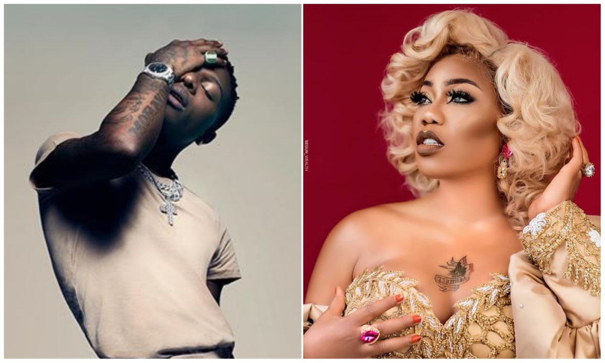 Toyin Lawani hurl insults on fans attacking her for promoting Wizkid's album