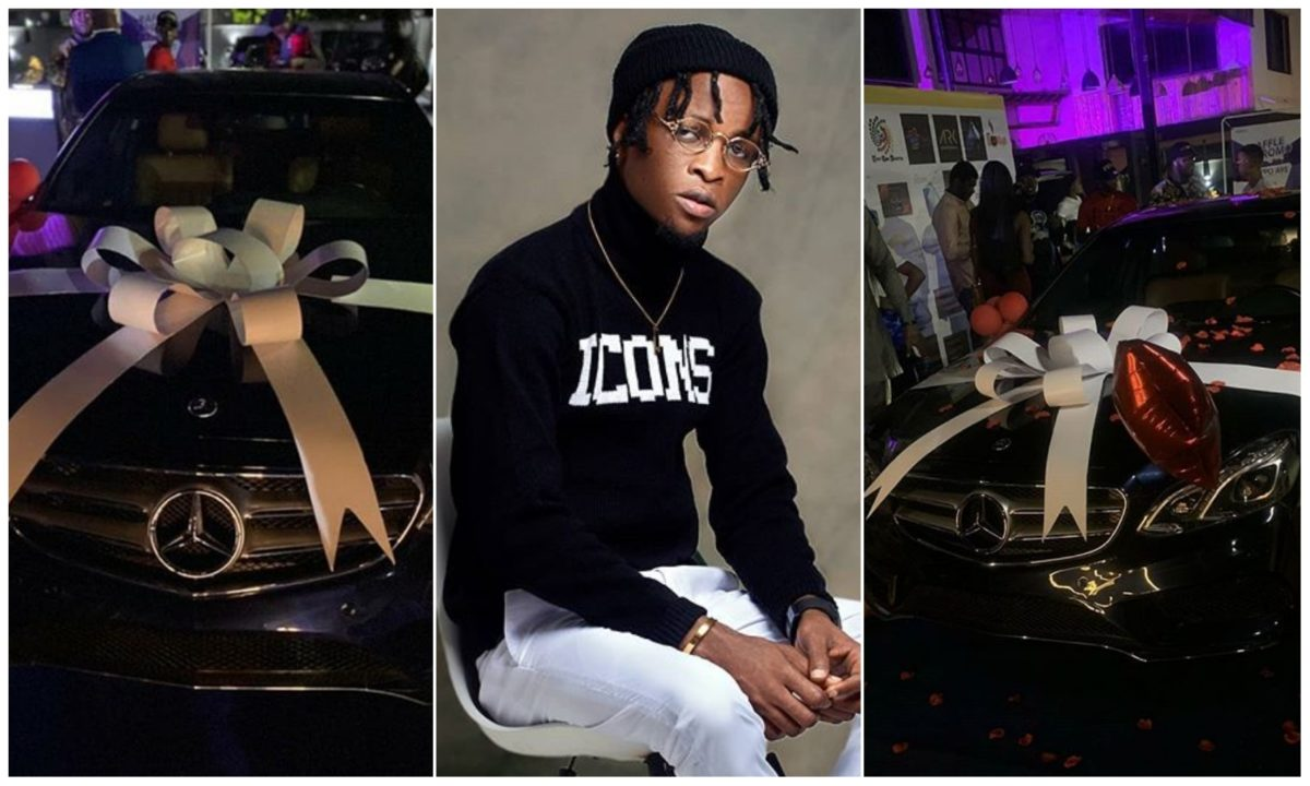 #BBNaija: Laycon weeps profusely as fans gift him Mercedes Benz on his birthday (Video)