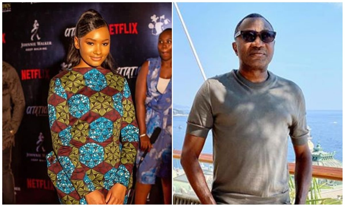 The new biggest actress from Africa – Femi Otedola showers praise on daughter, Temi, over her role in 'Citation'