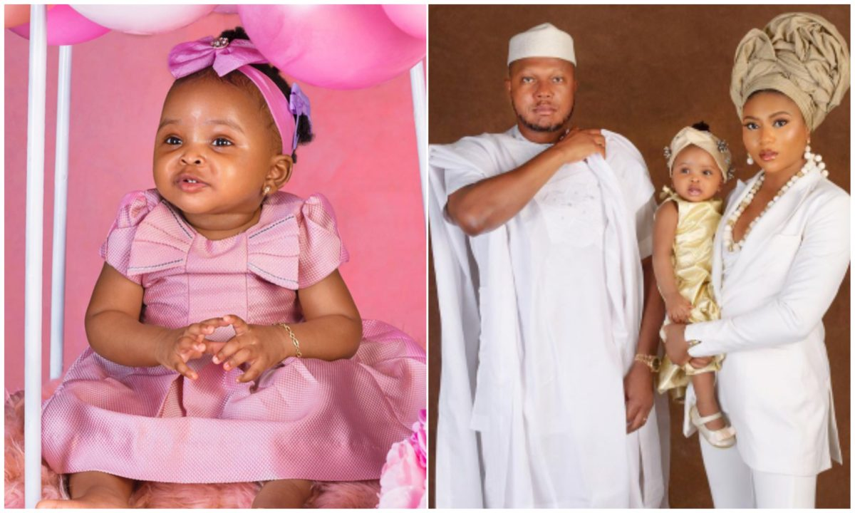 Actress Stephanie Coker reveals her daughter's face as she clocks one year old (Photos)