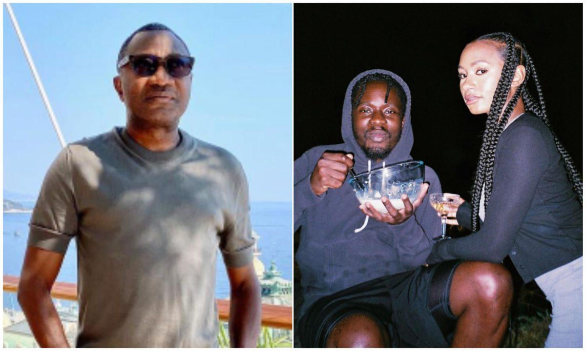 """""""When una go marry"""" – Femi Otedola questions his daughter, Temi, and her boyfriend, Mr Eazi"""