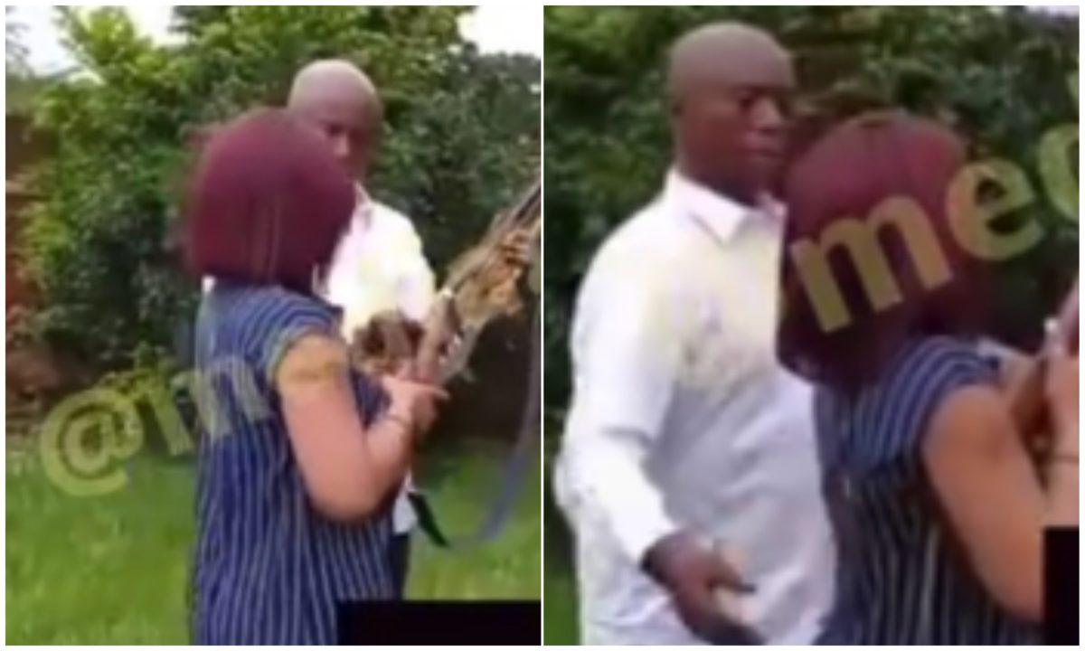 Moment billionaire, Ned Nwoko teaches Regina Daniels how to fire a gun (Video)