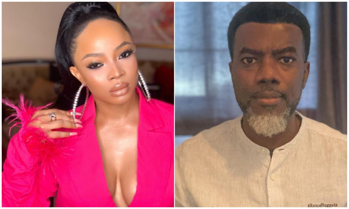Such An Embarrassment – Toke Makinwa attacks Reno Omokri over his stands on Divorce