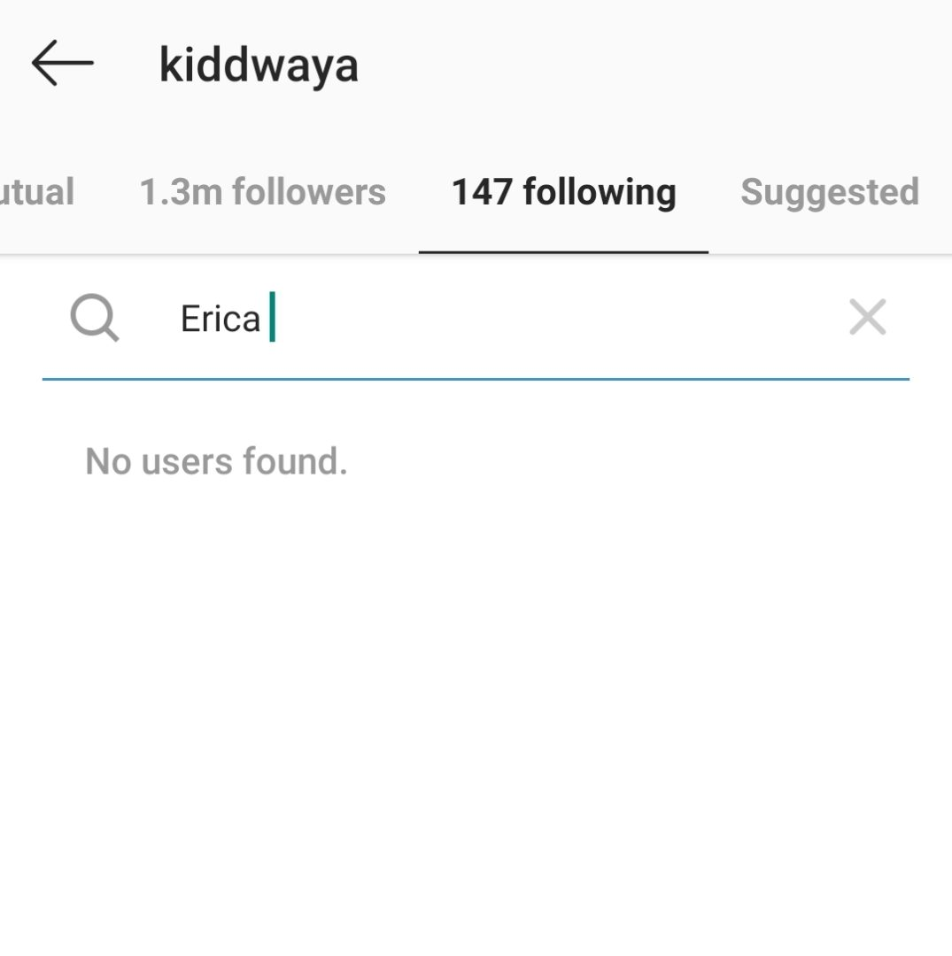 Erica and Kiddwaya unfollow each other on Instagram