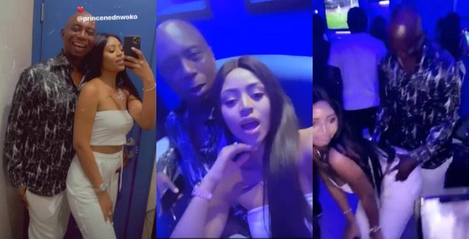 Regina Daniels twerks for her husband Ned Nwoko as they hit the club (Video)